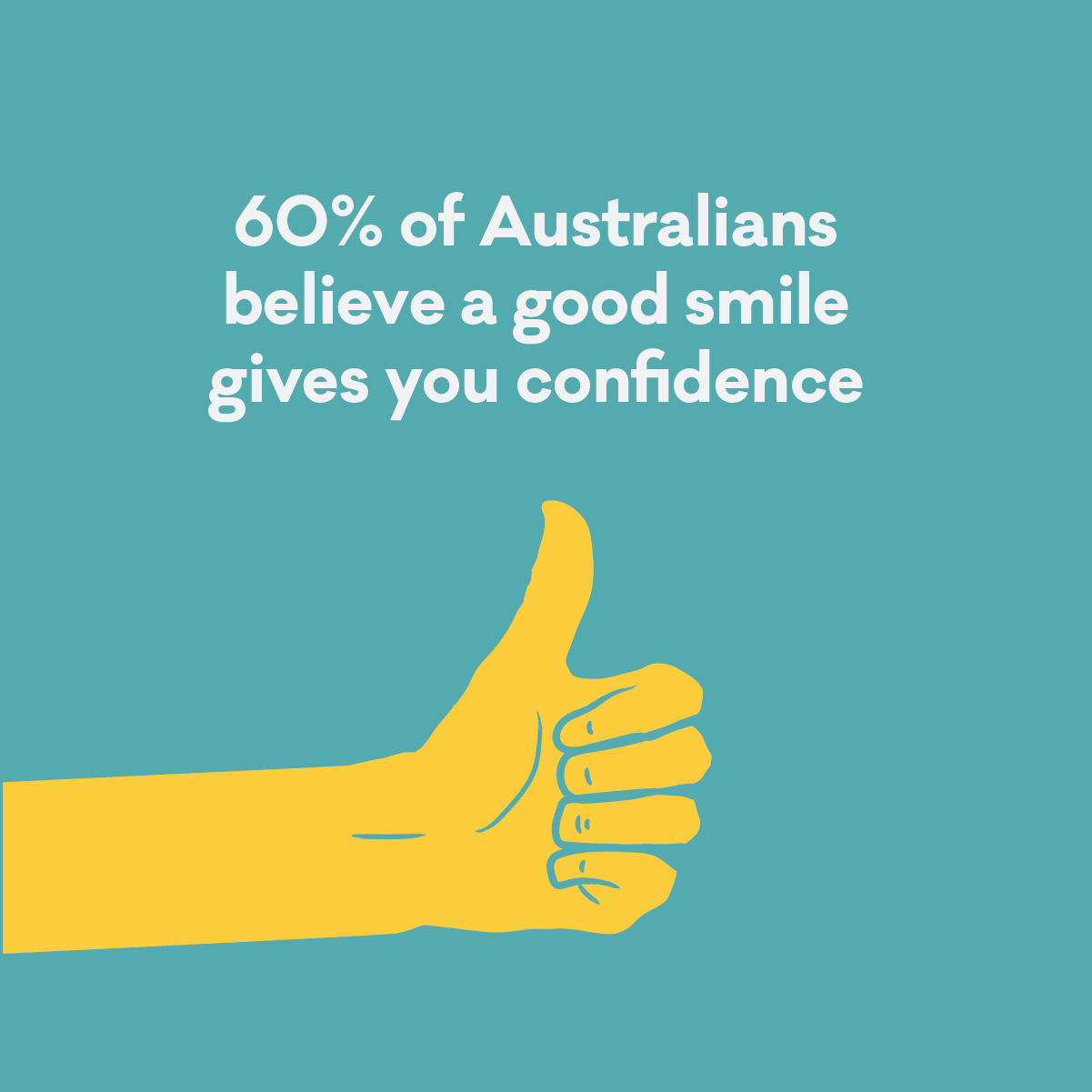 ASO Infographic - a good smile gives you confidence