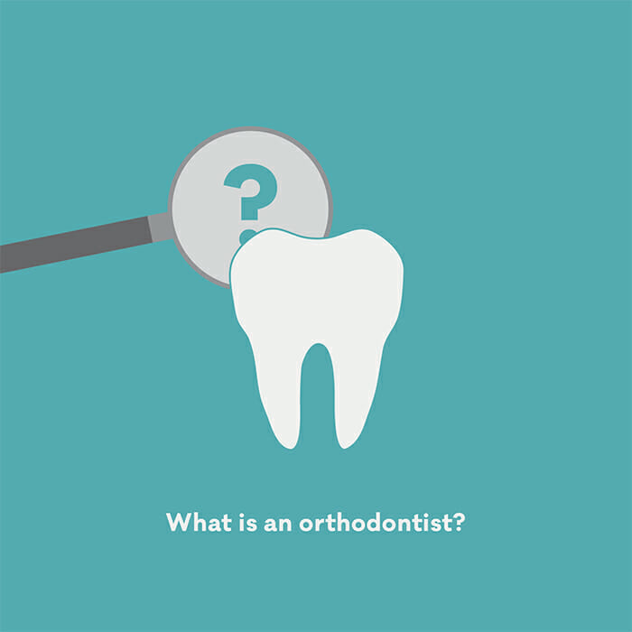 What is an orthodontist image showing a tooth and a magnifying glass