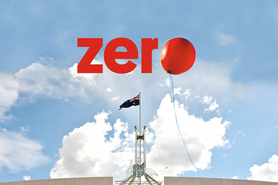 Red Nose at Parliament House in Canberra as part of their Towards Zero campaign