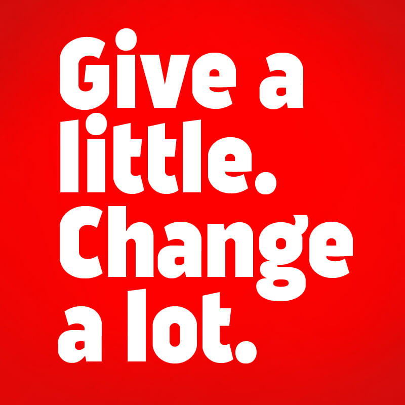 Give a little. Change a lot. Wesley Mission Victoria's Christmas content marketing campaign.