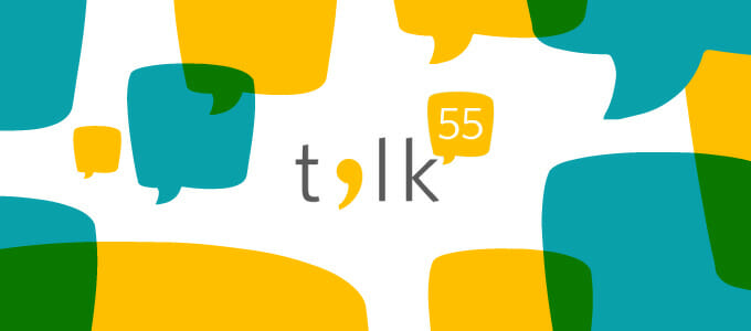 Talk55 event banner - tech talk
